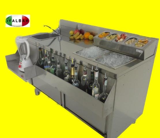 workstation per preparazione long drink