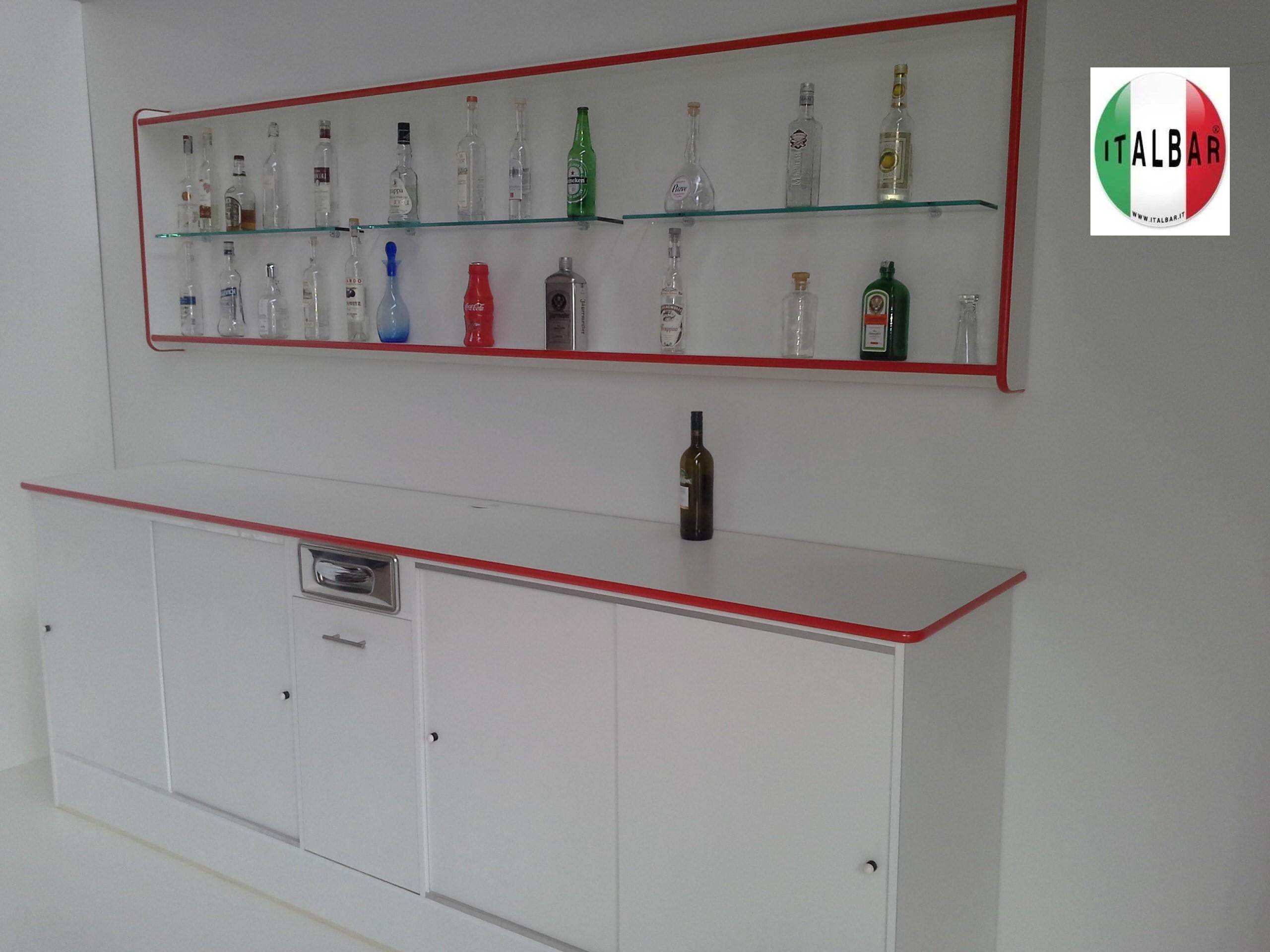 espositore bottiglie + retrobanco