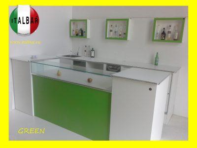 Bancone Bar Green completo di retrobanco: €.6000+iva