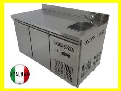 tavolo frigo 2 porte con vasca