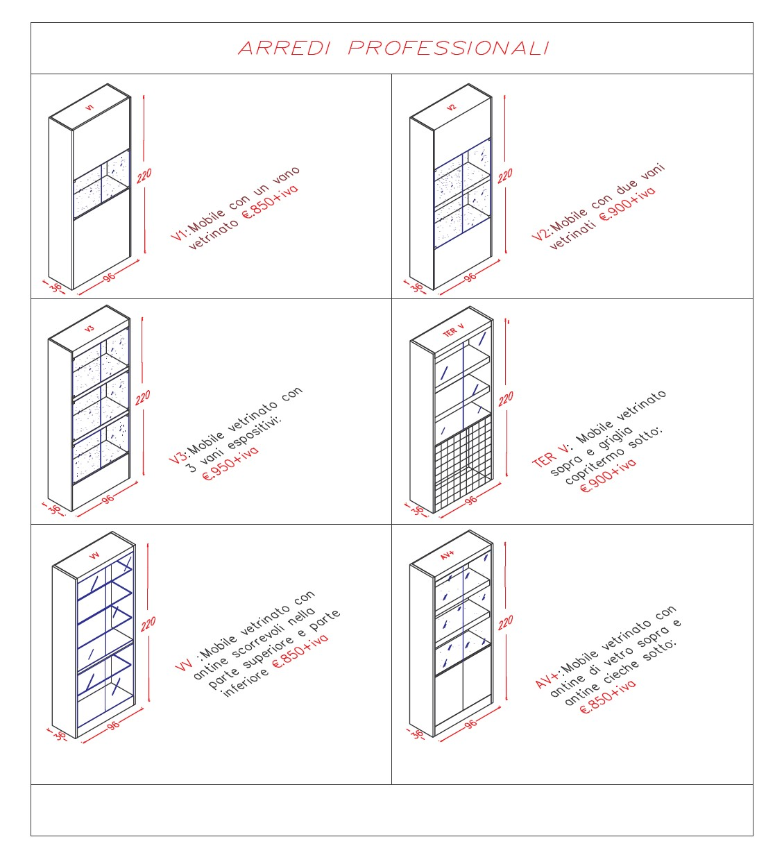 Italbar banconi bar banchi frigo vetrine refrigerate for Negozi per mobili