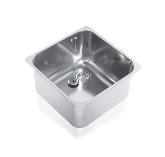 vasca in acciaio cm.40x40xh20