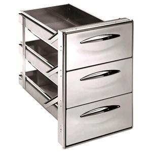 cassettiera per banco bar a 3 cassetti