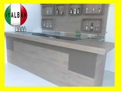 Banco Bar Francese + retro banco, portabottiglie e pedana €.7.500+iva