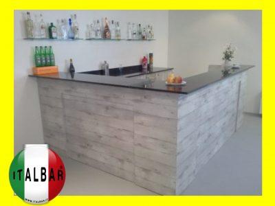 Banco Bar Milanello + retrobanco , portabottiglie e pedana: €.6.400+iva