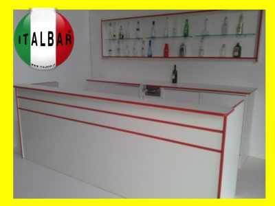 Banco Bar Santa Fè + retrobanco, portabottiglie e pedana: €.5.600+iva