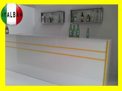 Banco Bar Summer cm.300 + retrobanco + portabottiglie + pedana €. 5.000+IVA