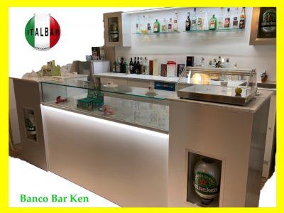 Banco Bar Ken di cm.300 completo di retrobanco €.6.400+iva