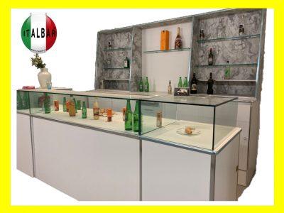 Banco Bar Modena cm.300 completo di retro banco: €.6.000+iva
